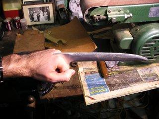 One blade being worn.