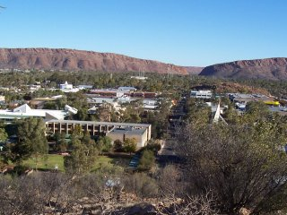 Overlooking Alice Springs.