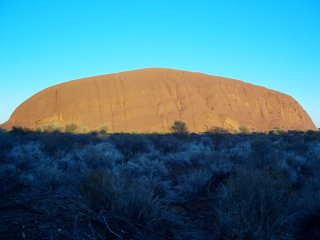 Uluru at sunrise.