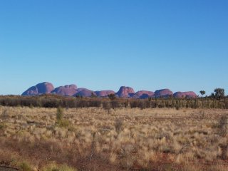 Kata Tjuta from a distance.