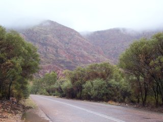 Rain on Ormiston Gorge.